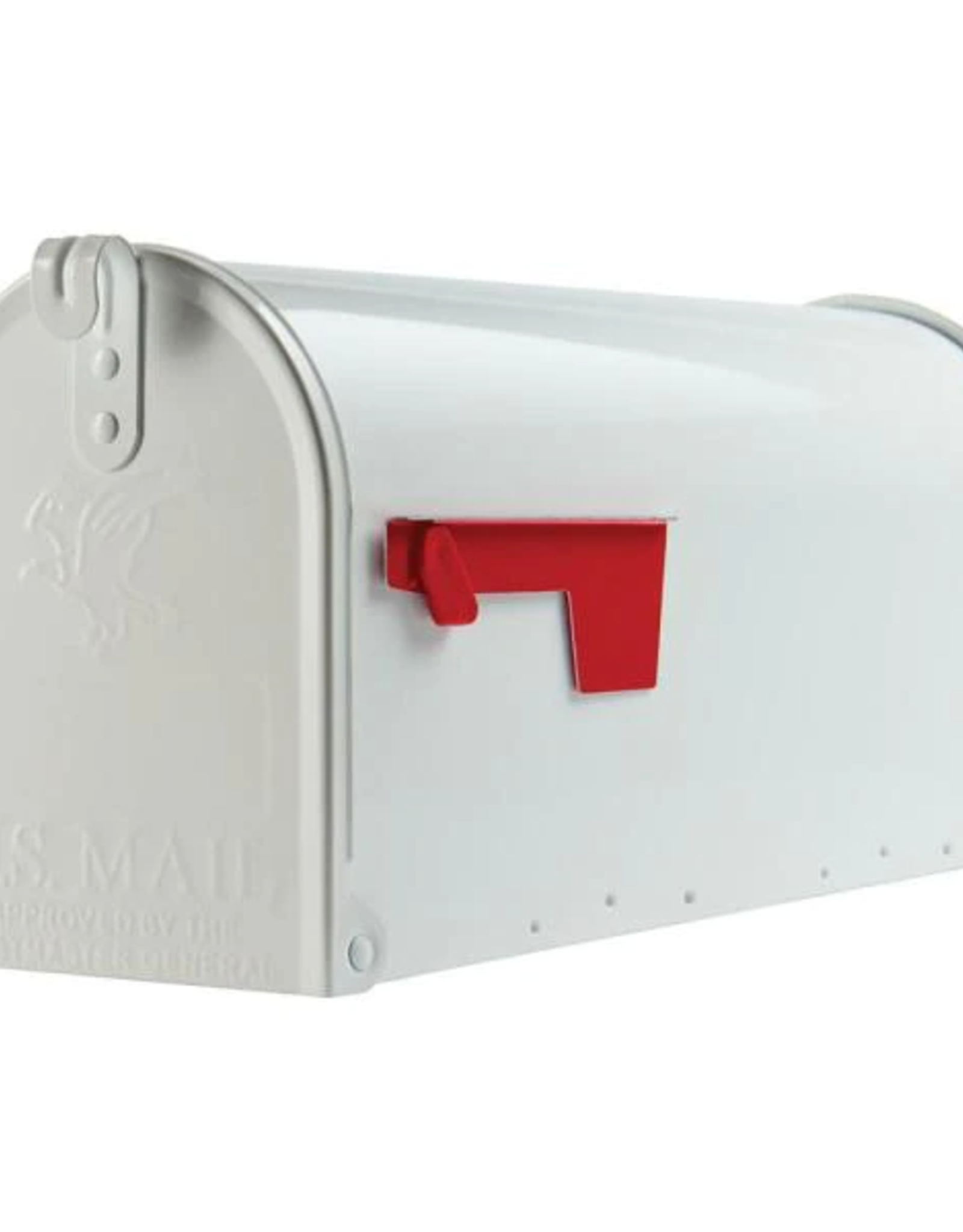 Gibraltar Elite Medium, Steel, Post Mount Mailbox, White