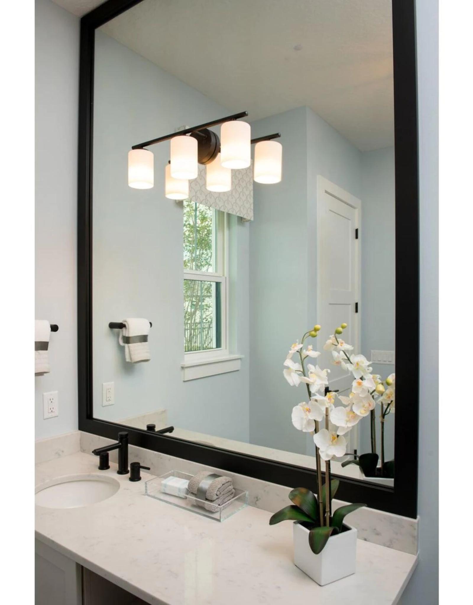 Progress Lighting Replay Collection 3-Light Antique Bronze Etched White Glass Modern Bath Vanity Light