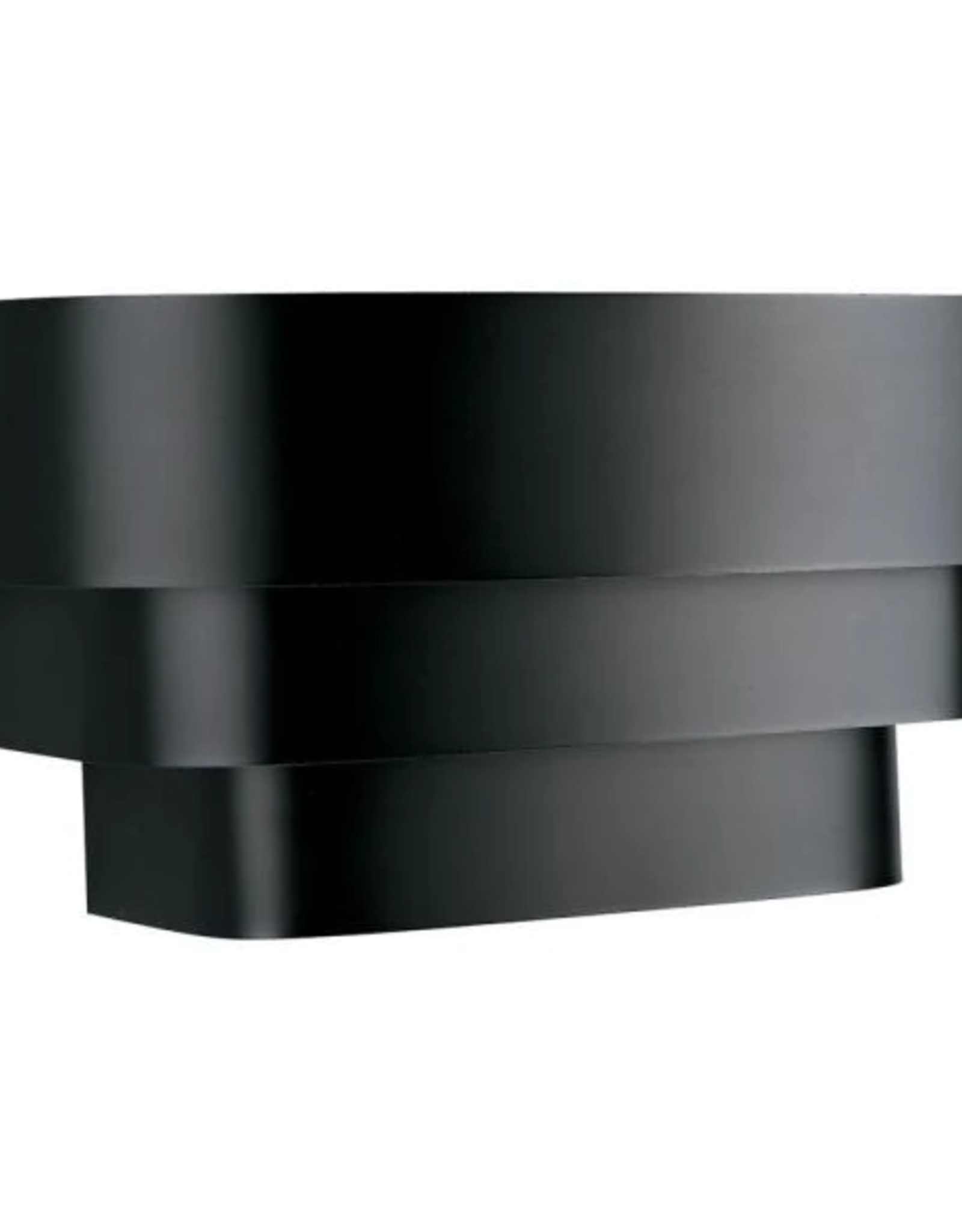 Progress Lighting 14 in. 1-Light Black Wall Sconce with Metal Shade