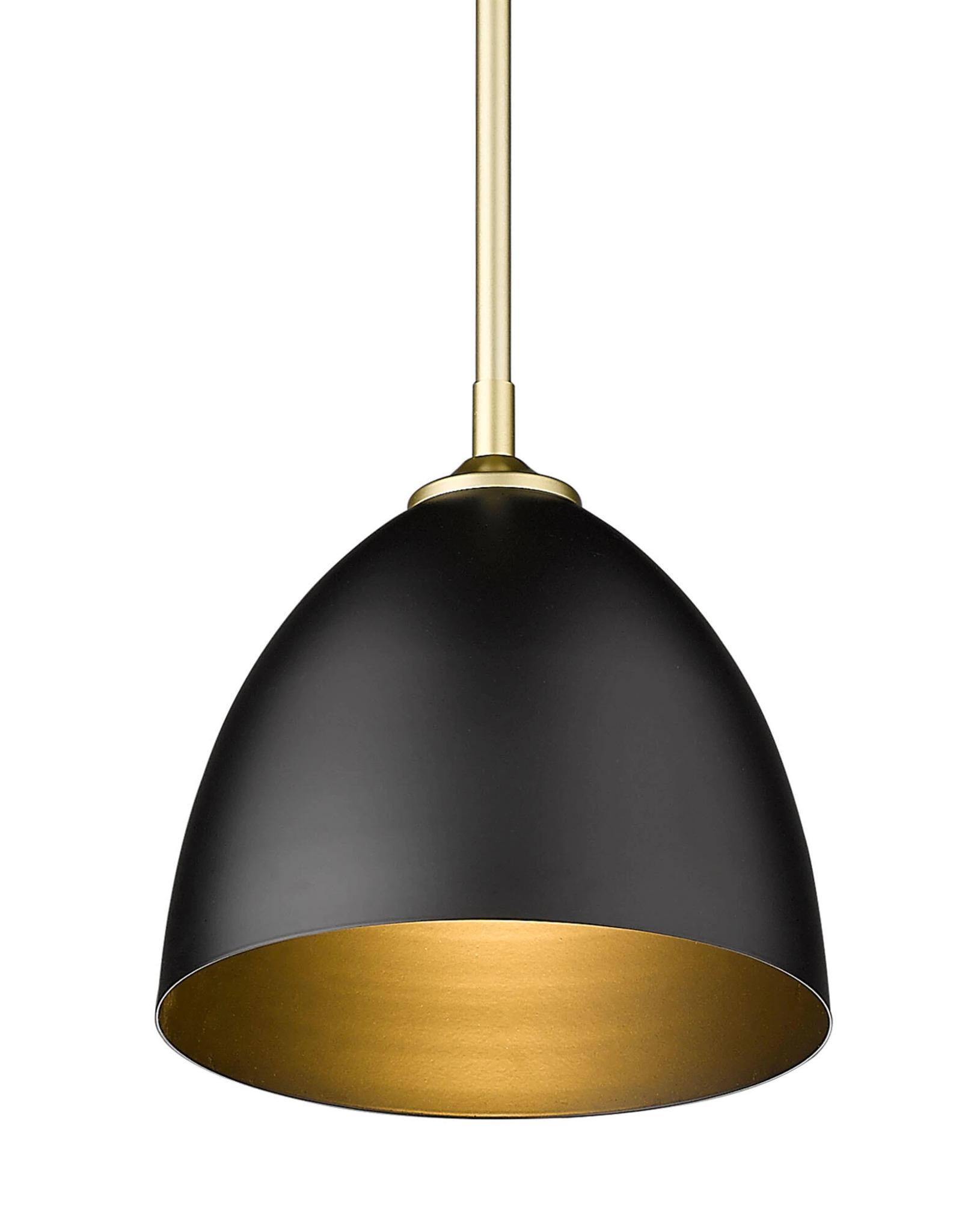 Golden Lighting Zoey 1-Light Olympic Gold Standard Pendant