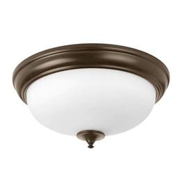 Progress Lighting 19 in. Alabaster Collection 30 -Watt Antique Bronze Integrated LED Flush Mount