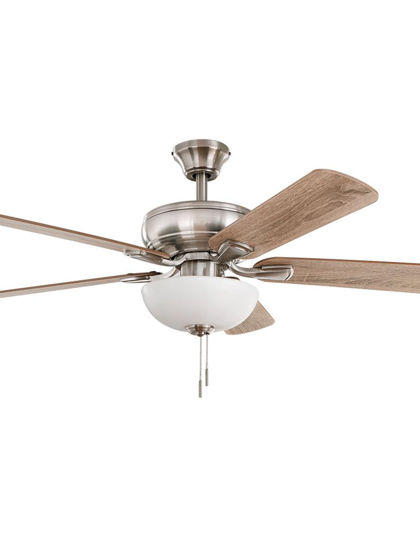 Hampton Bay Rothley II 52 in. Brushed Nickel LED Ceiling Fan with Light Kit