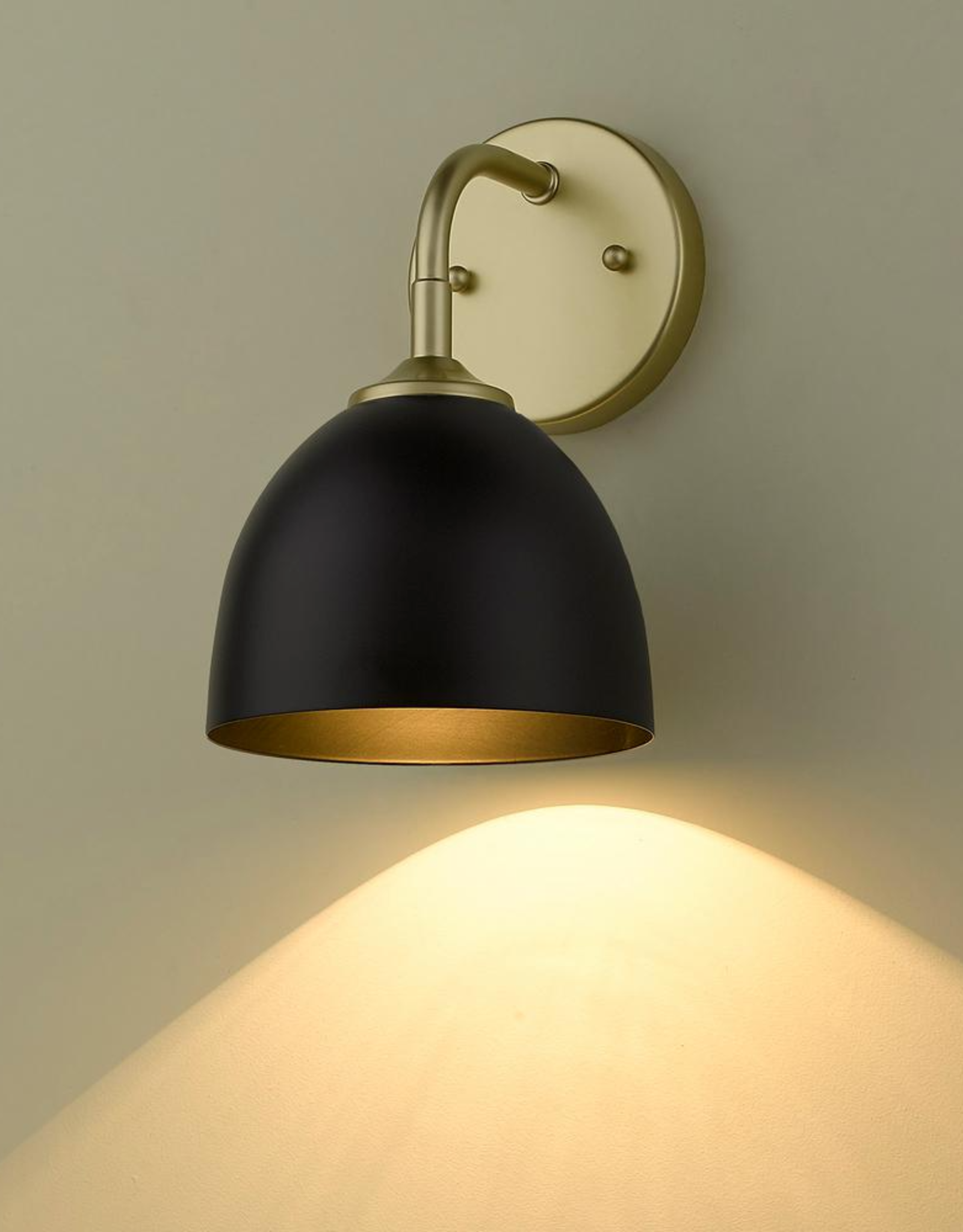 Golden Lighting Zoey 4.75 in. Olympic Gold Sconce
