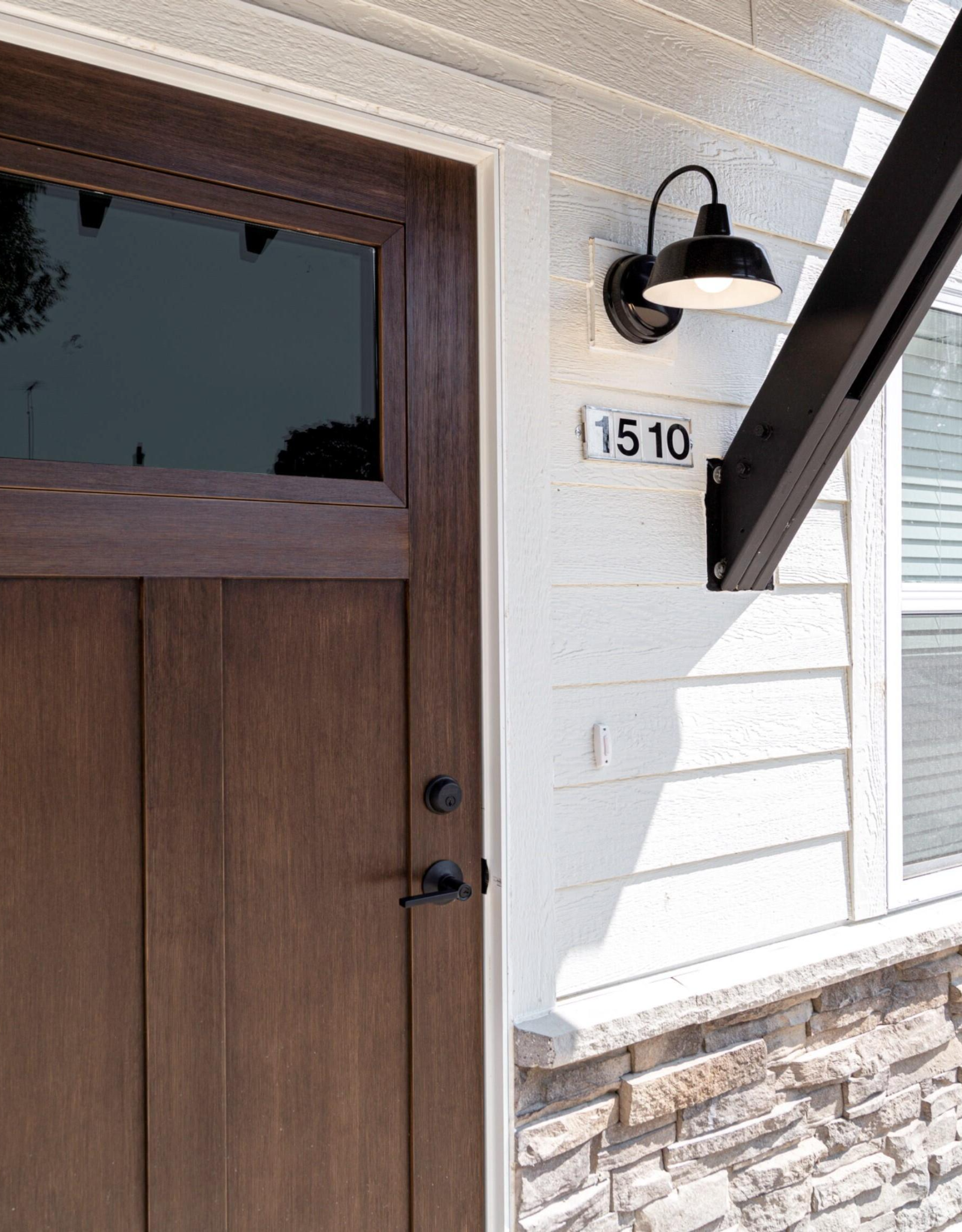 Design House Mason 1-Light Satin Black Outdoor Wall Light Sconce