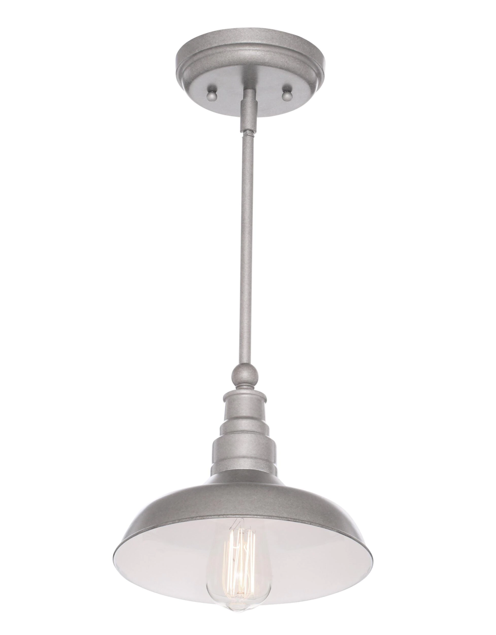 Design House Kimball 1-Light Galvanized Steel Indoor Mini Pendant