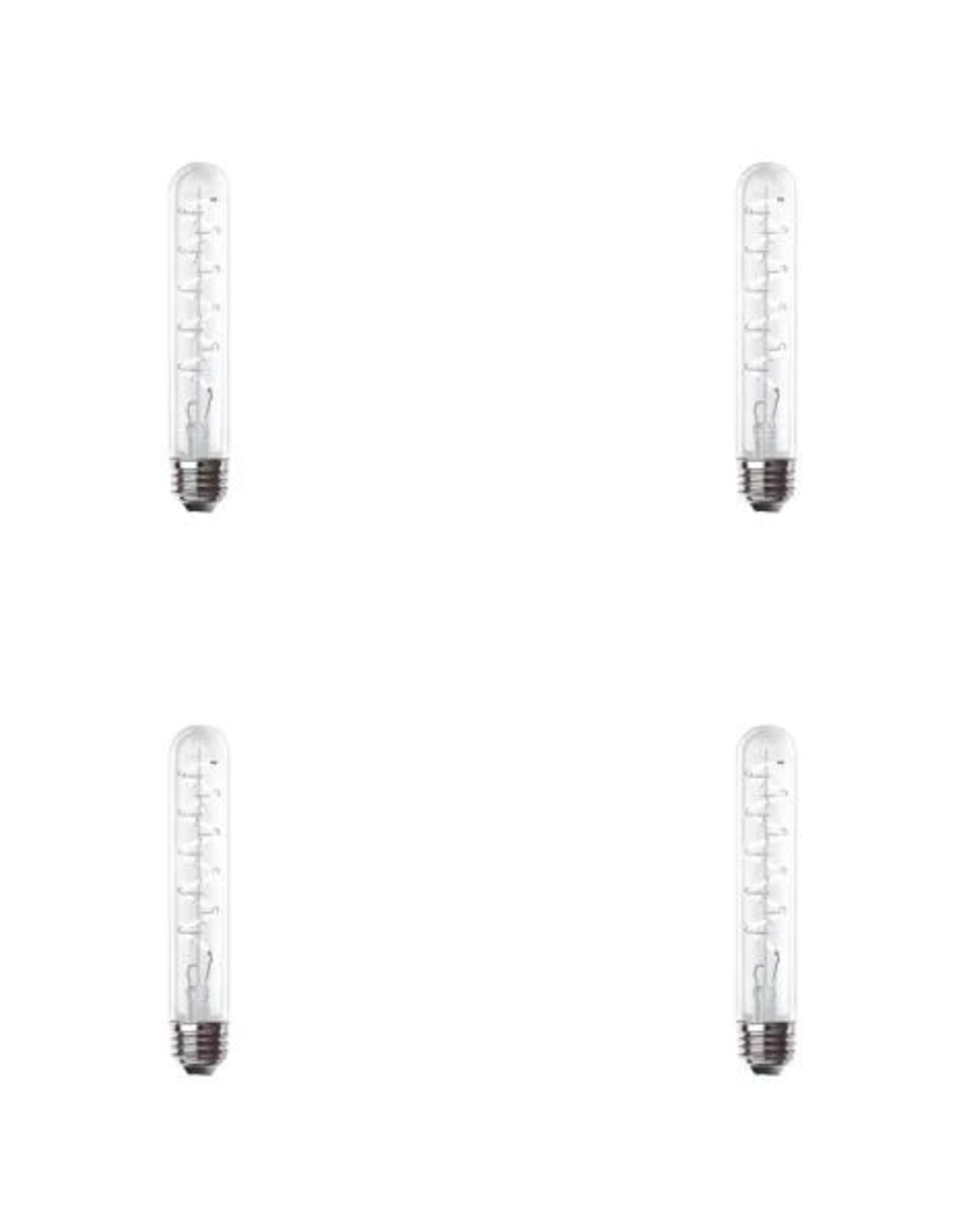 Feit Electric 40-Watt Equivalent T10 Dimmable LED Clear Glass Vintage Edison Large Light Bulb With Spiral Filament Daylight (4-Pack)