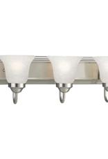 Progress Lighting 24 in. 3-Light Brushed Nickel Bathroom Vanity Light with Glass Shades