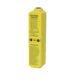 Leviton 20 Amp 120-Volt Manual Reset In-Line User-Attachable Grounded GFCI Plug, Yellow