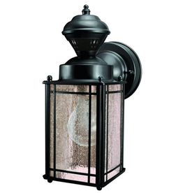 Heath Zenith Shaker Cove Mission 150° Black Motion Sensing Outdoor Wall Lantern Sconce