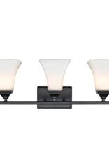 Millennium Lighting 23.25 in. 3-Light Matte Black Vanity Light