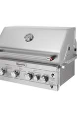 Kitchenaid 4-Burner Built-in Propane Gas Island Grill Head in Stainless Steel with Rotisserie Burner