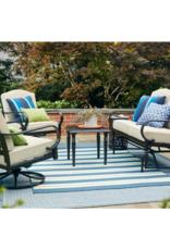 Hampton Bay Laurel Oaks Brown Steel Outdoor Patio Lounge Chair with Cushion Guard Putty Tan Cushions (2-Pack)