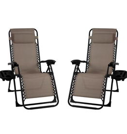 Unbranded Premier Metal Outdoor Patio Recliner Gravity Chairs (2-Pack)