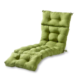Greendale Home Fashions Solid Summerside Green Outdoor Chaise Lounge Cushion