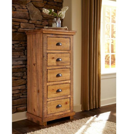 Progressive Furniture Willow 5-Drawer Distressed Pine Lingerie Chest
