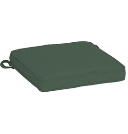 Arden Selections Oasis 15 in. x 17 in. Rectangle Outdoor Seat Cushion in Dark Olive Green