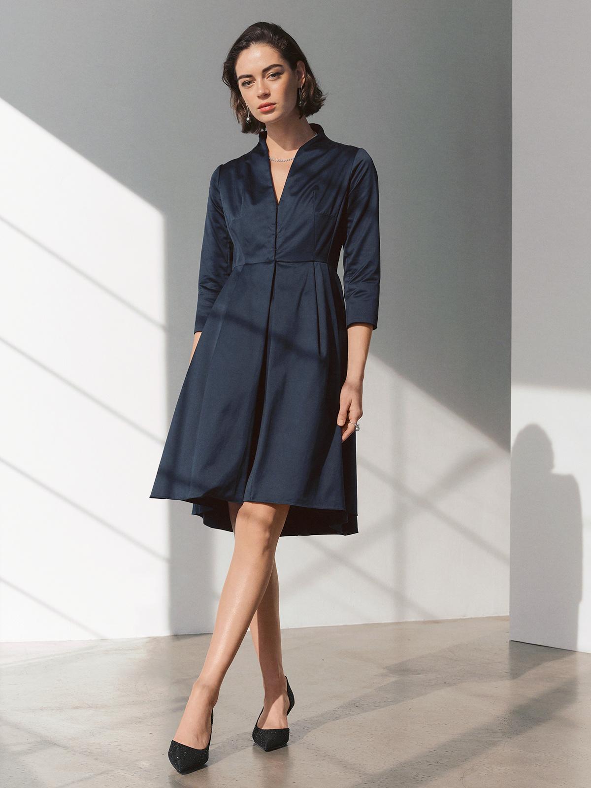 Arcadia Dress Heavy Cotton Sateen Valentina Kova
