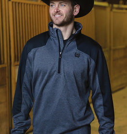Cinch Mens Cinch 1/2 Zip Tech Fleece Navy Pullover