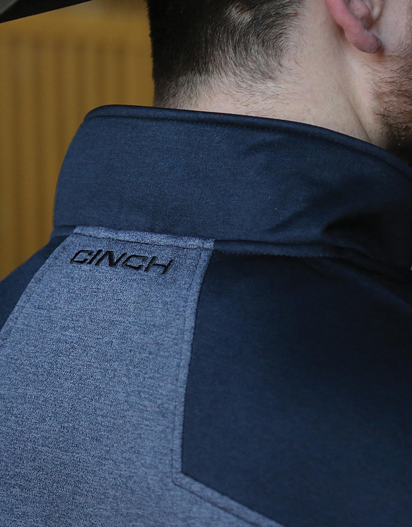 Cinch Mens Cinch 1/2 Zip Tech Fleece Navy Pullover