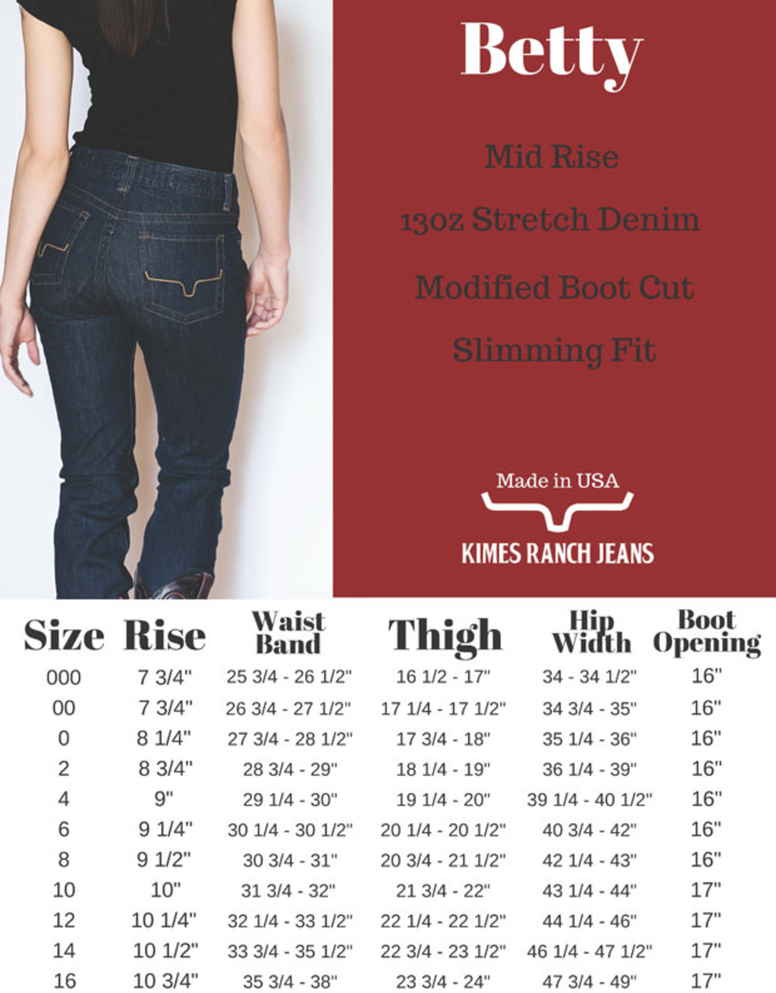 Kimes Ranch Ladies Betty Dk Denim