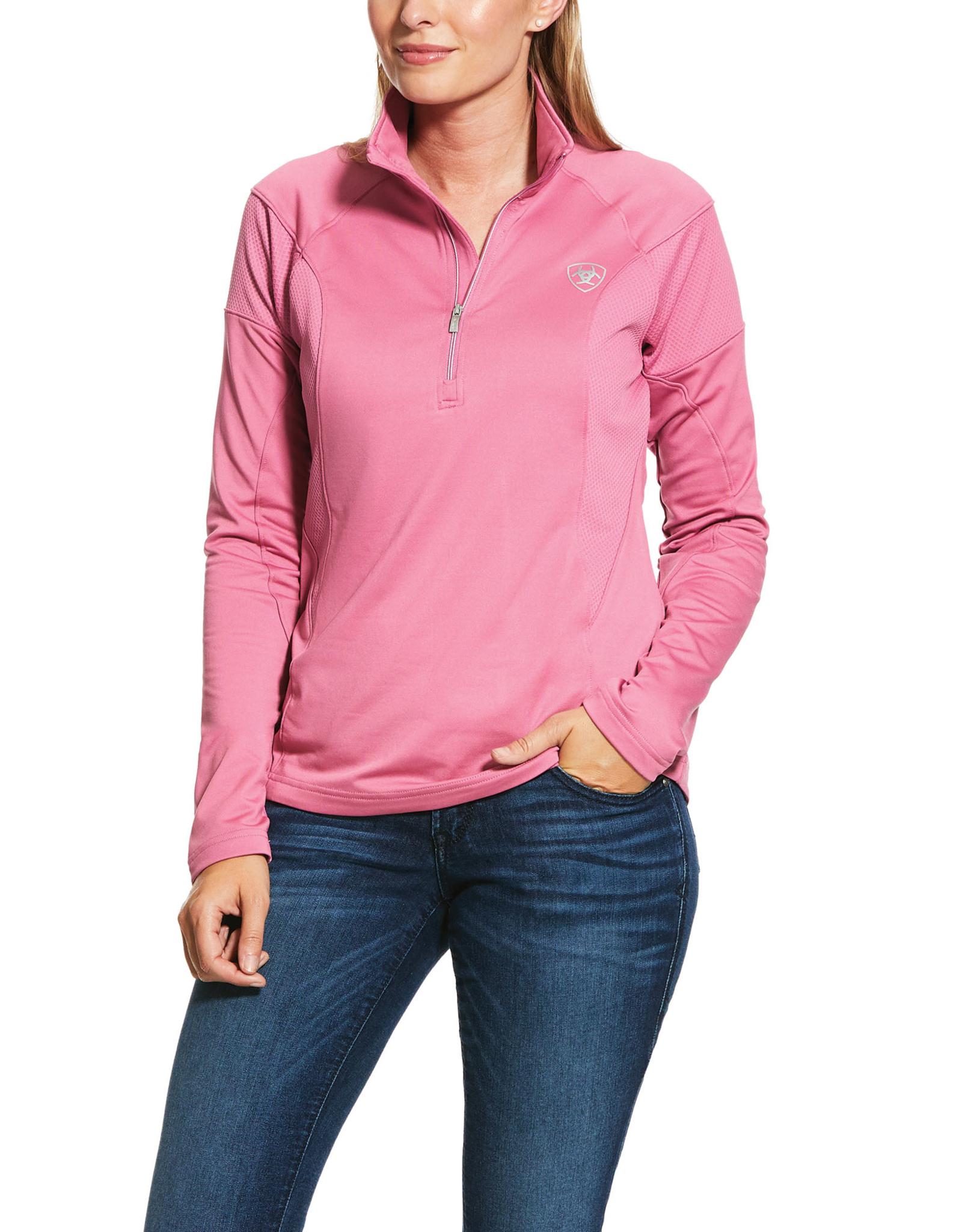 Ariat Ariat Womens Tolt Half Zip Heather Pink Sweatshirt