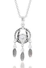 Montana Horseshoe Feather Dream Catcher Necklace