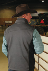 Cinch Cinch Grey Bonded Ribbed Vest for Men