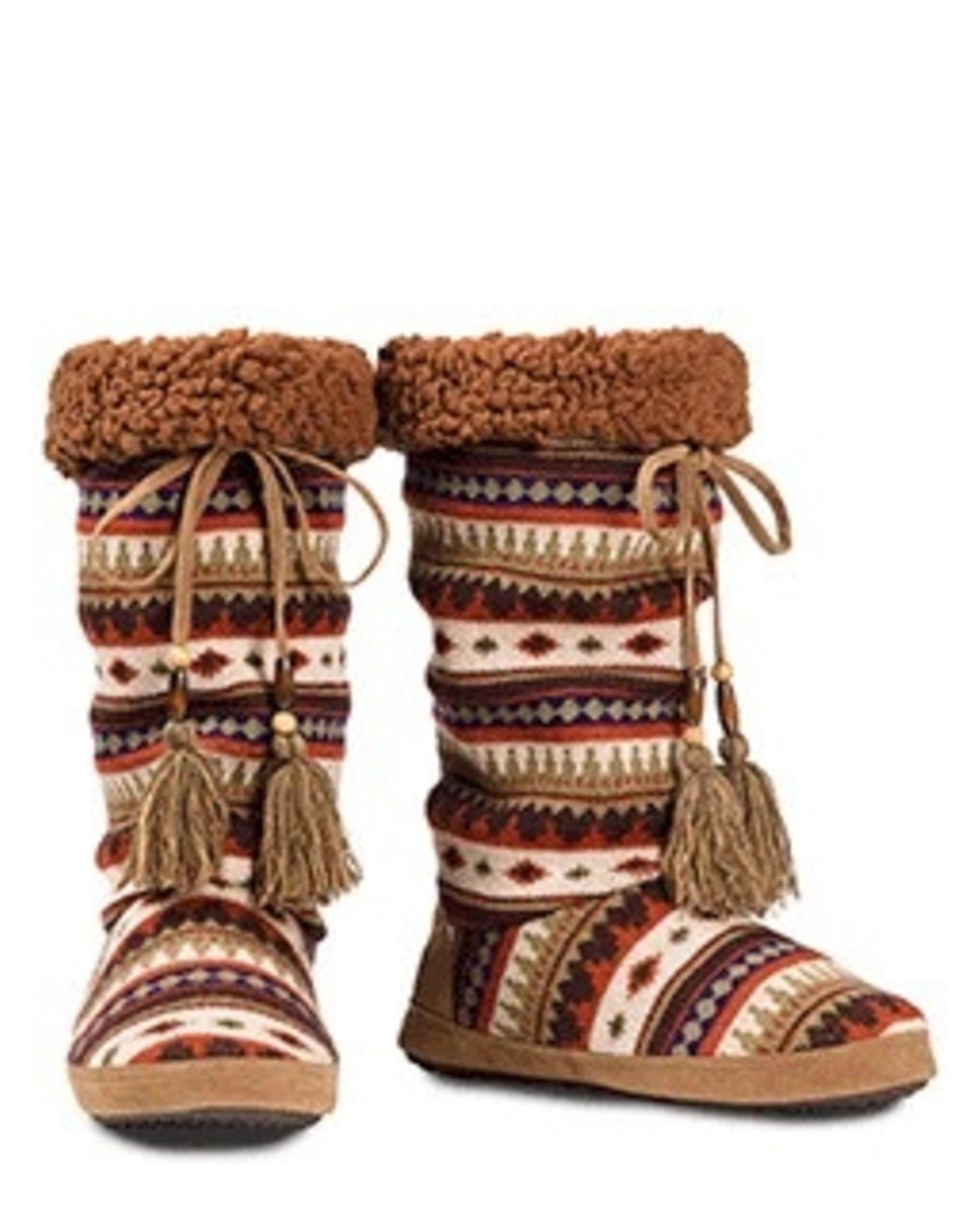 Blythe * Blazin Roxx Tall Red Aztec Cozy Slippers