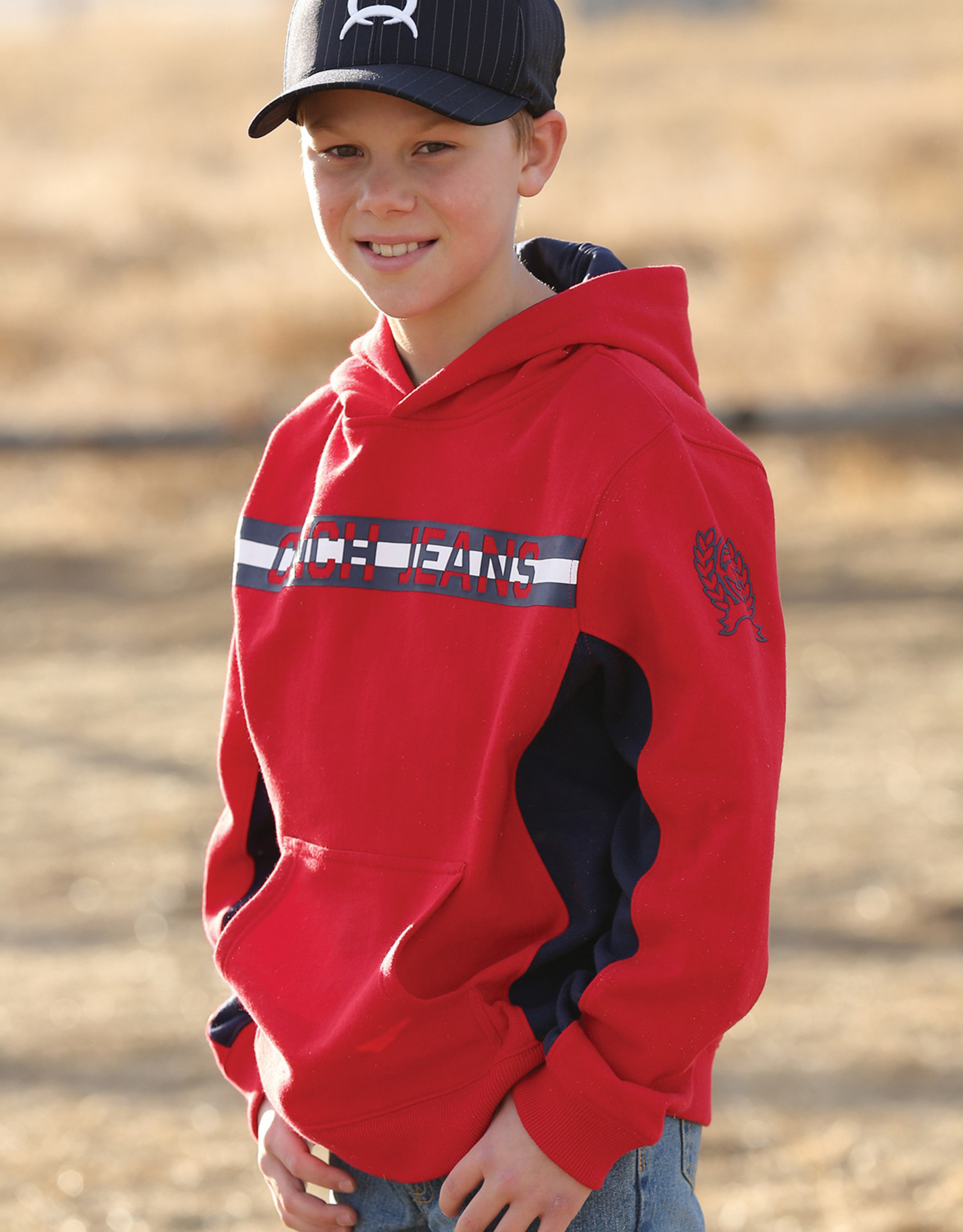 Cinch Boys Cinch Red Pull Over Hoodie
