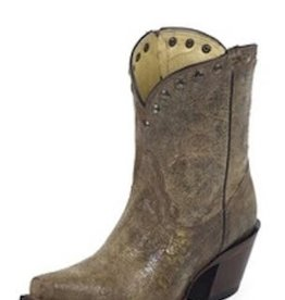 Tony Lama Ladies Brass Mardi Gras Short Cowboy Boot