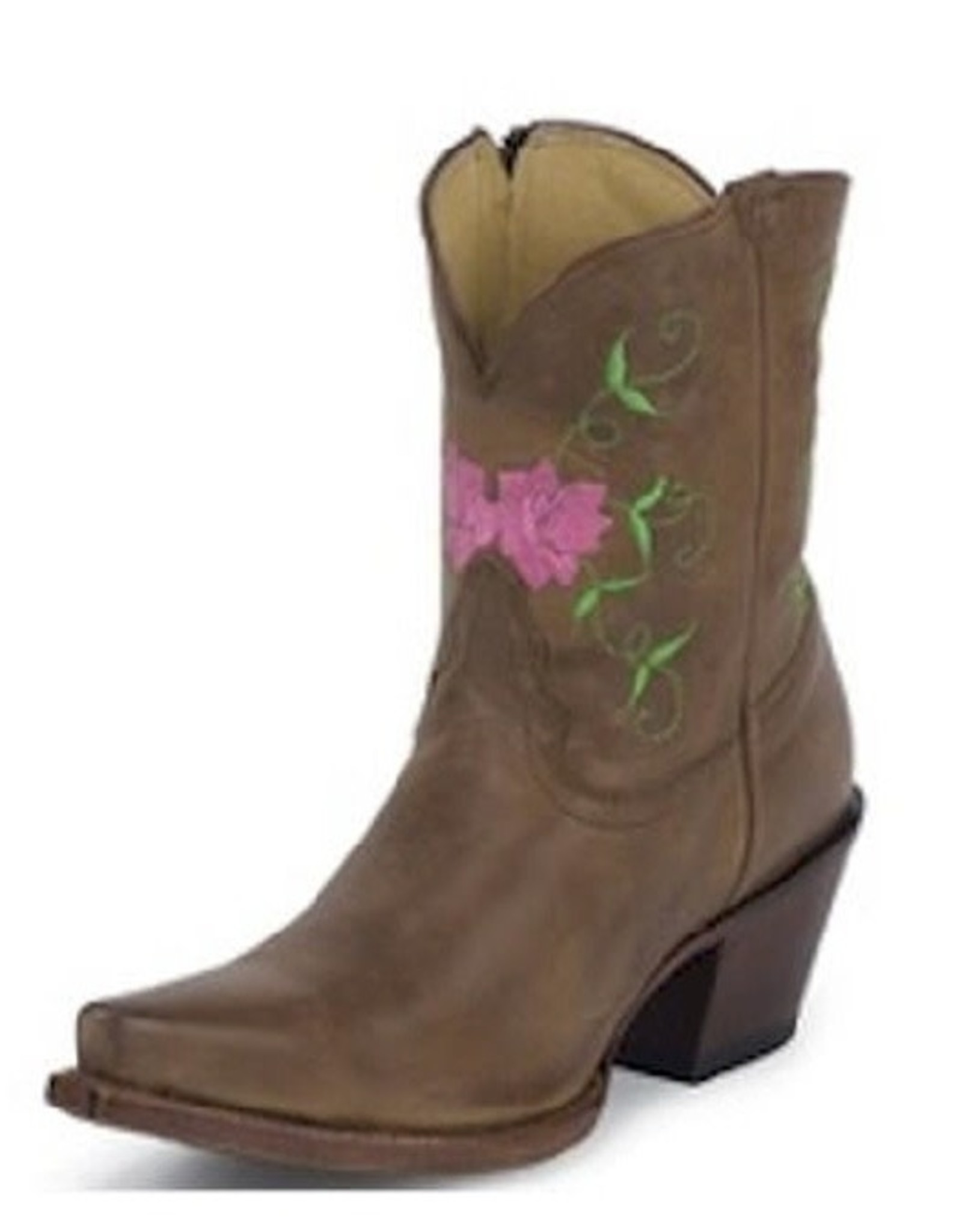 Tony Lama Ladies Cinnamon Patina Short Cowboy Boot