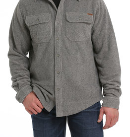 Cinch Mens Cinch Khaki Fleece Shirt Jacket