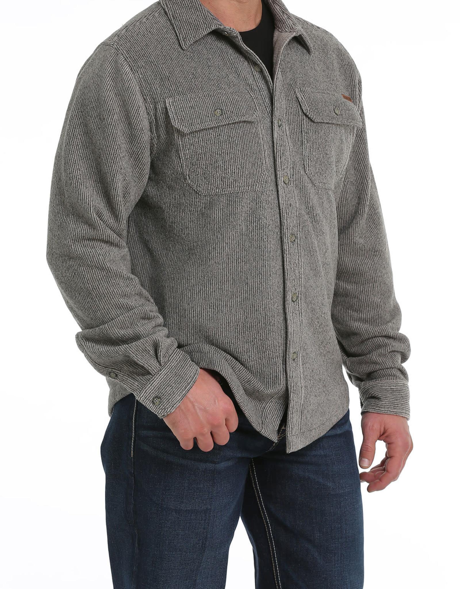 Cinch Mens Cinch Khaki Fleece Shirt Jacket