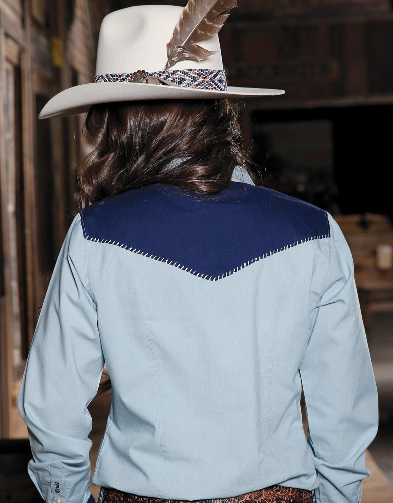 Womens Cruel Denim Long Sleeve Arrow Ranch Western Snap Shirt
