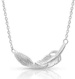 Montana Twisted Feather Necklace