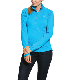 Ariat Ariat Womens Tolt Half Zip Bright Blue Nautilus Sweatshirt
