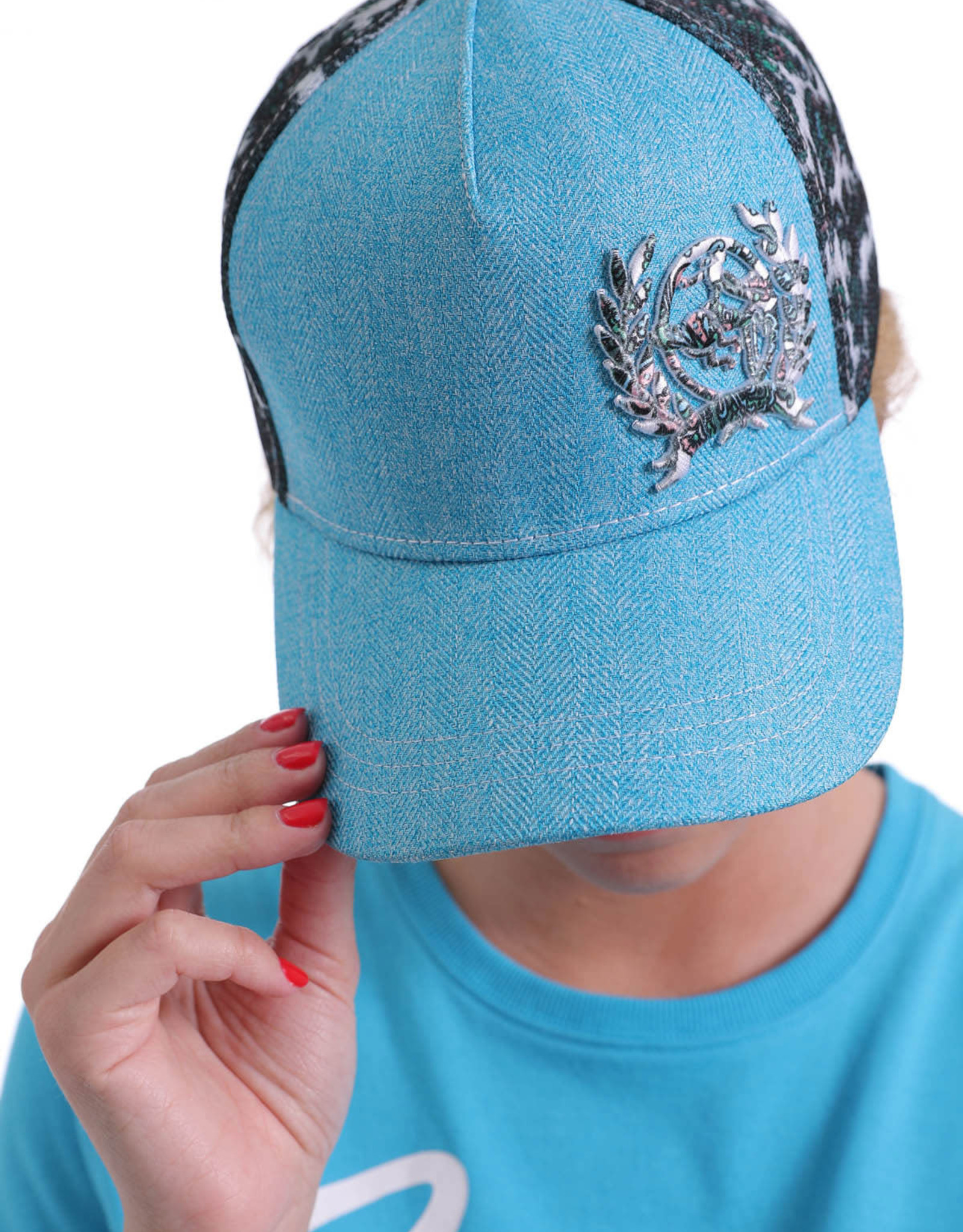 Cinch Womens Cinch Blue Floral Baseball Cap