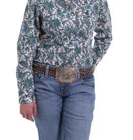 Cinch Womens Cinch Long Sleeve Blue Multi Color Paisley Shirt