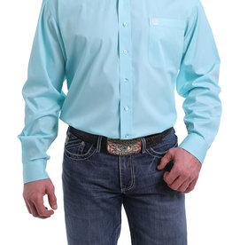 Cinch Mens Long Sleeve Solid Light Blue Shirt