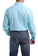 Cinch Mens Long Sleeve Solid Light Blue Shirt