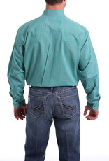 Cinch MEN'S GREEN AND TURQUOISE PRINT BUTTON-DOWN WESTERN SHIRT