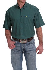 Cinch MEN'S SHORT SLEEVE ARENA FLEX BUTTON-DOWN SHIRT - NAVY, GREEN AND YELLOW DOT PRINT