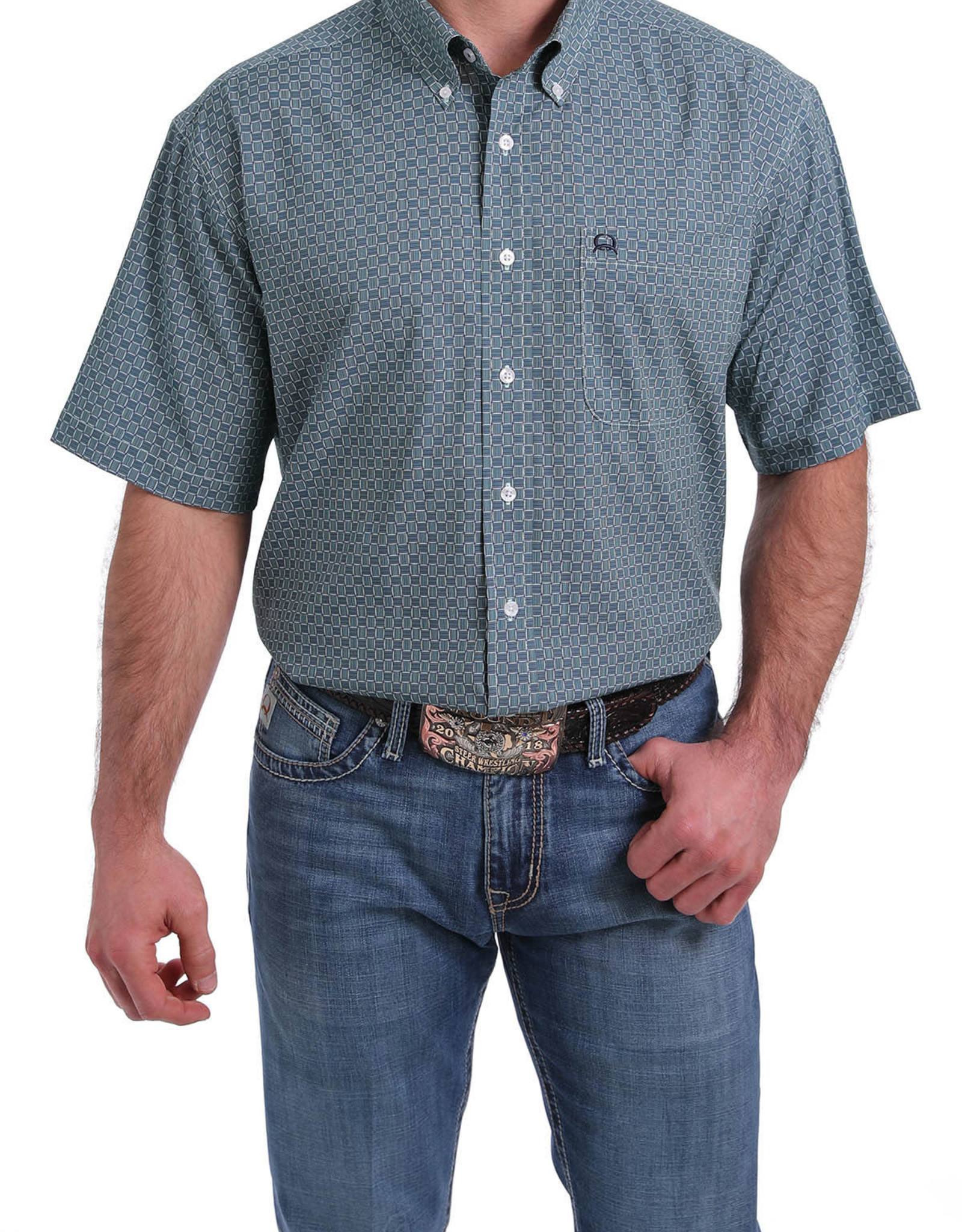 Cinch Cinch Men's Light Blue Short Sleeve Shirt