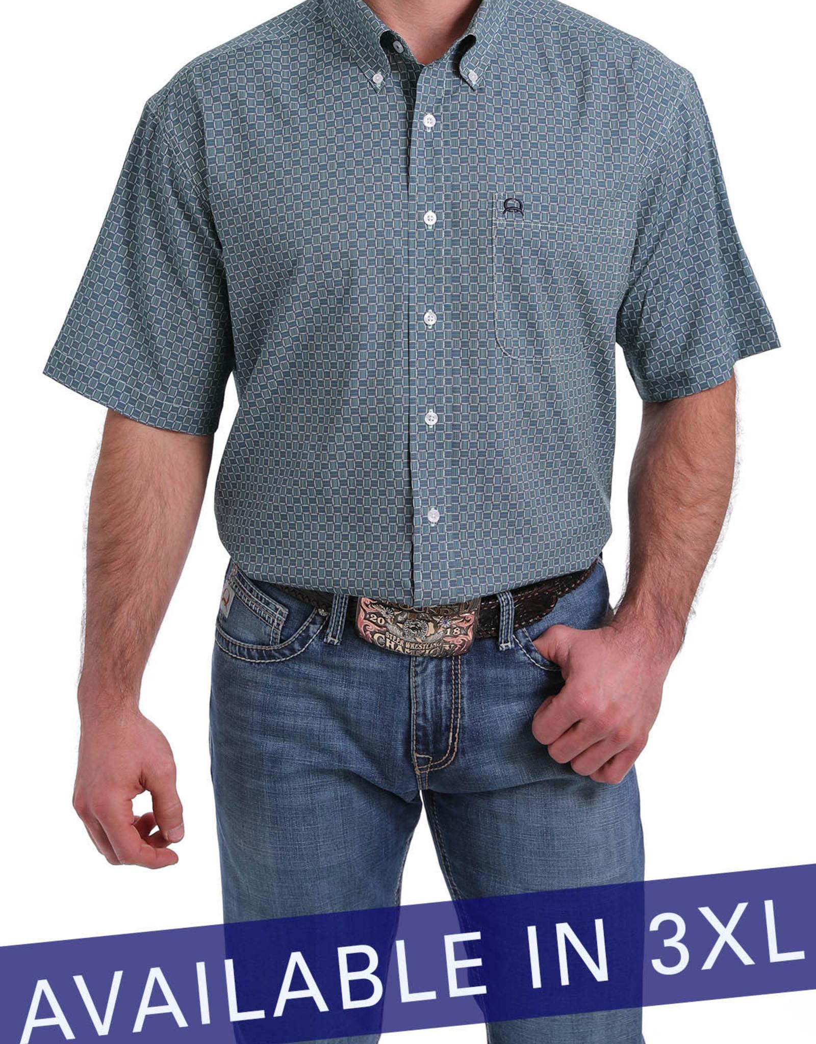 Cinch Cinch Men's Light Blue Short Sleeve Shirt