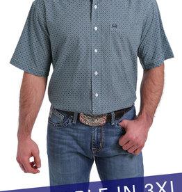 Cinch Cinch Men's Arena Flex Light Blue Short Sleeve Shirt