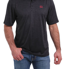 Cinch MENS SHORT SLEEVE ARENA FLEX STRIPED POLO SHIRT - BLACK