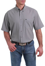 Cinch MENS SHORT SLEEVE ARENA FLEX BUTTON-DOWN SHIRT - GREY PRINT