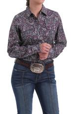 Cinch Ladies Cinch Long Sleeve Purple Paisley Snap Shirt
