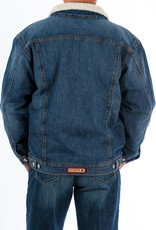 Cinch Mens Cinch Concealed Carry Denim Sherpa Fleece Denim Jacket