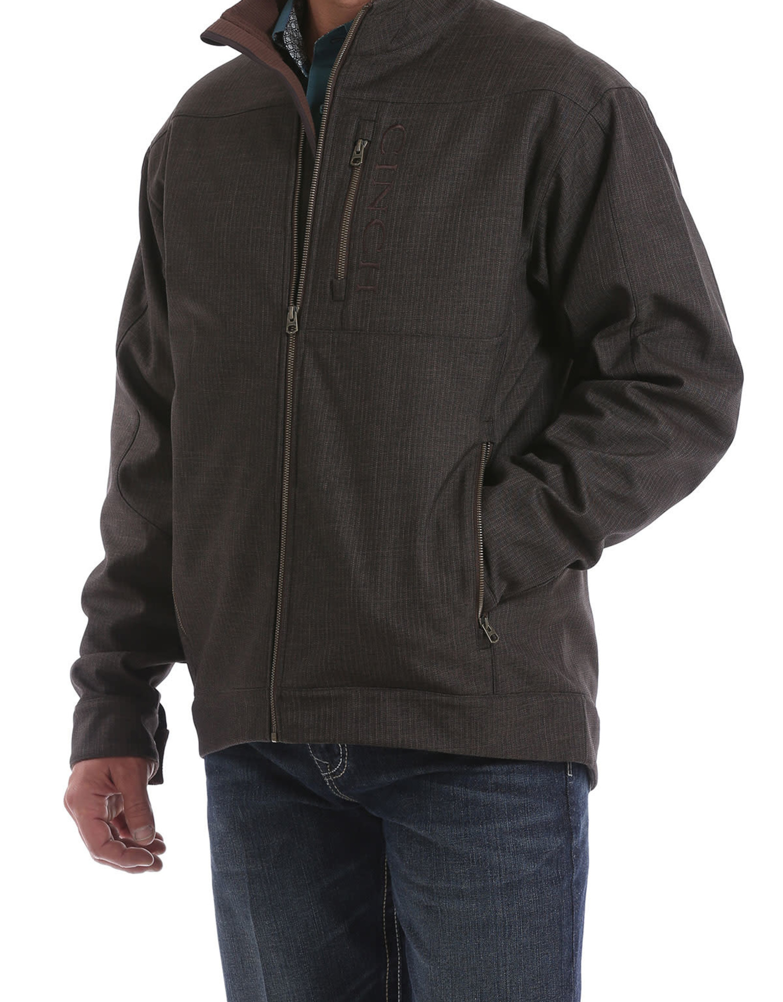 Cinch Mens Cinch Concealed Carry Textured Bonded Brown Jacket